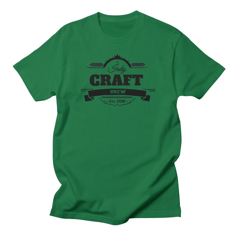 Large Black ICB Logo Men's T-Shirt by Indy Craft Brew's Shop