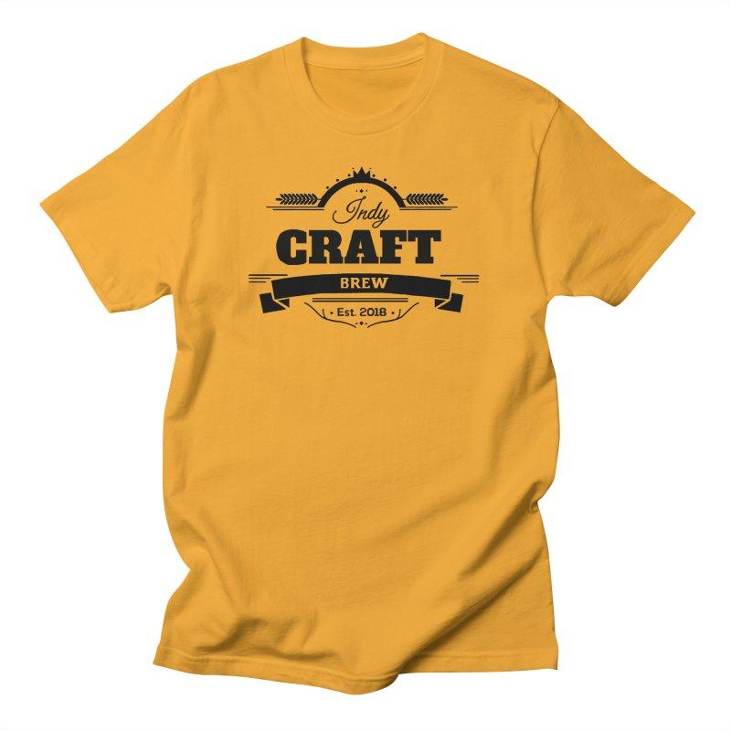 Large Black ICB Logo Men's Regular T-Shirt by Indy Craft Brew's Shop