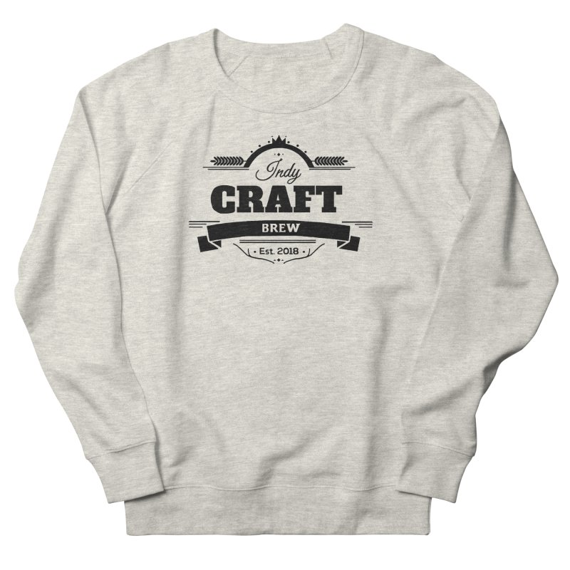 Large Black ICB Logo Women's French Terry Sweatshirt by Indy Craft Brew's Shop