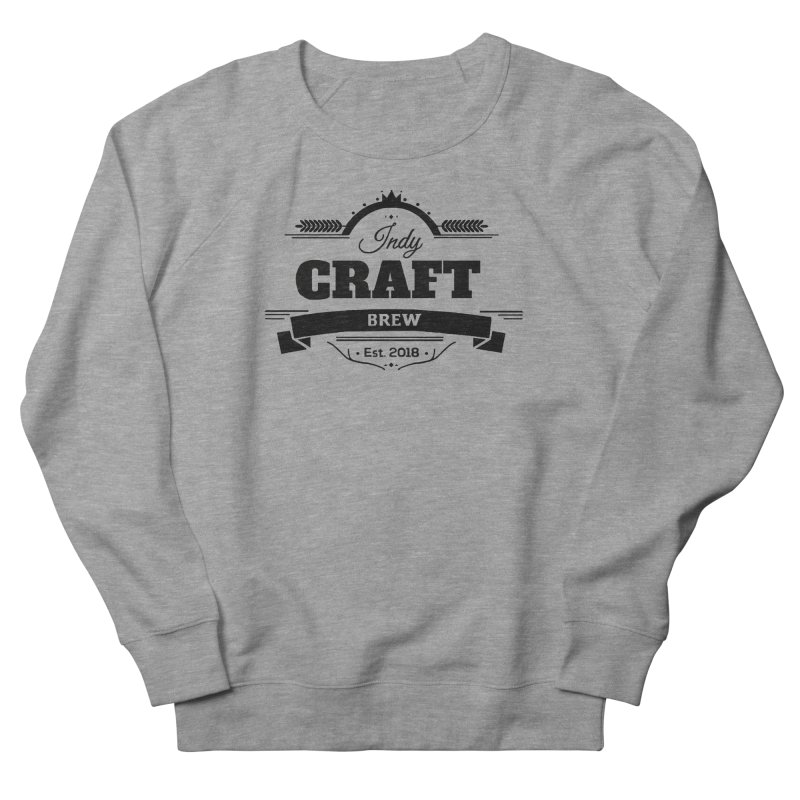 Large Black ICB Logo Men's French Terry Sweatshirt by Indy Craft Brew's Shop