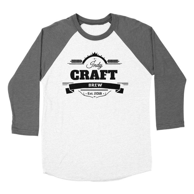 Large Black ICB Logo Women's Baseball Triblend Longsleeve T-Shirt by Indy Craft Brew's Shop