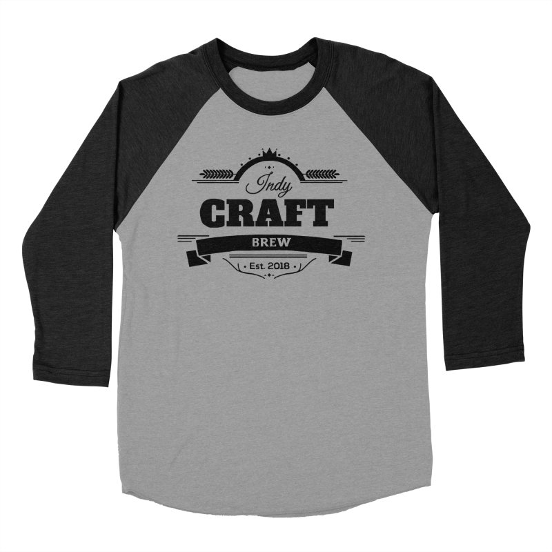 Large Black ICB Logo Women's Baseball Triblend Longsleeve T-Shirt by Indy Craft Brew's Shop