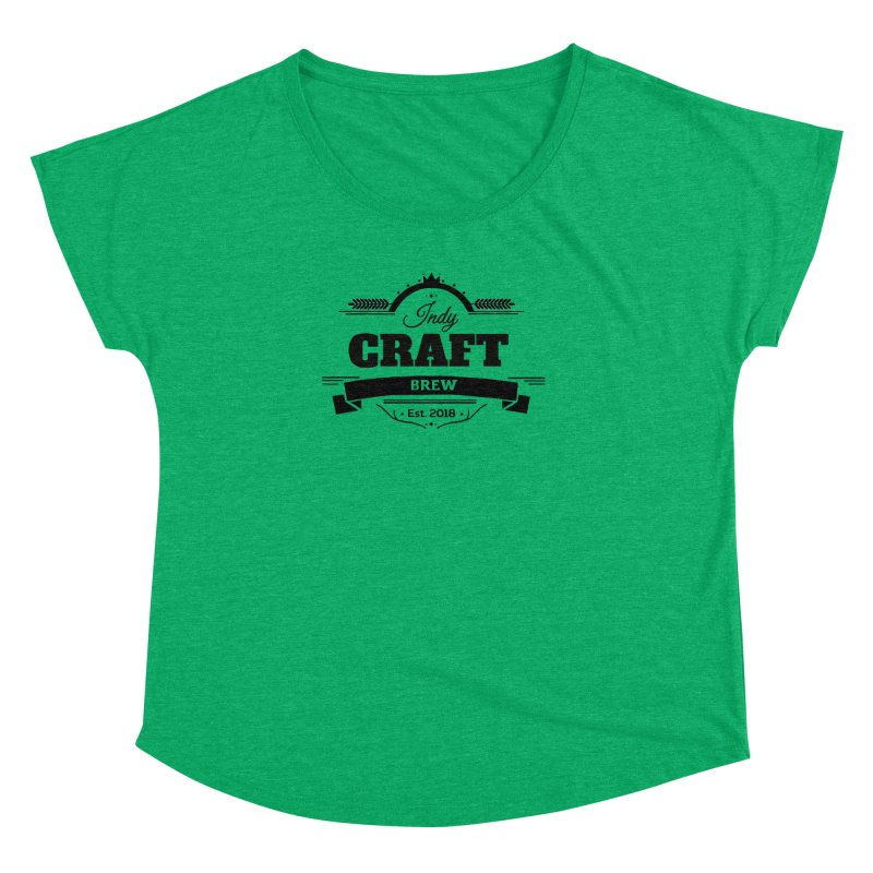 Large Black ICB Logo Women's Dolman Scoop Neck by Indy Craft Brew's Shop