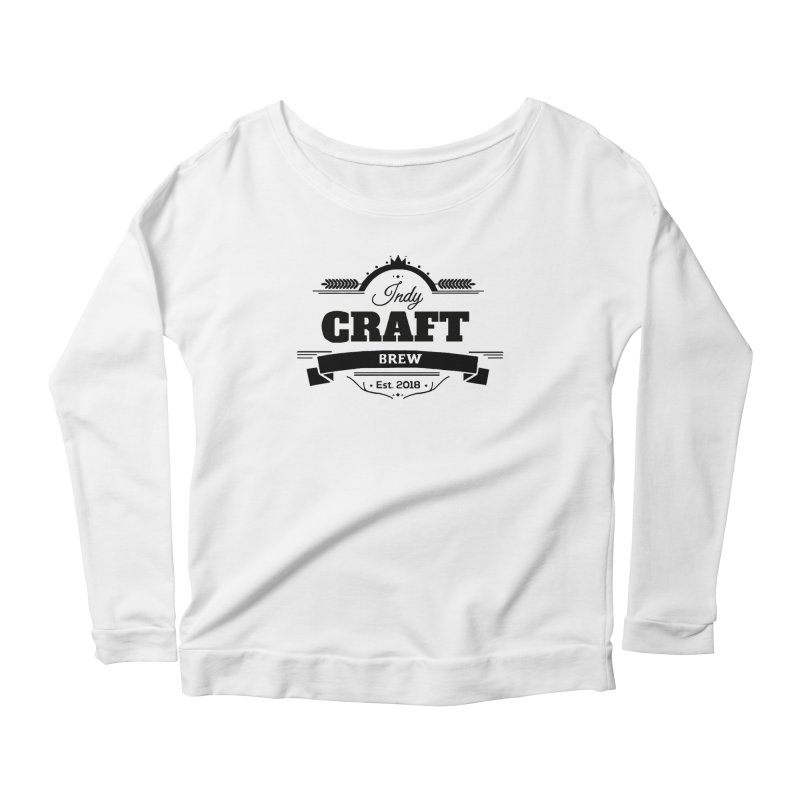 Large Black ICB Logo Women's Scoop Neck Longsleeve T-Shirt by Indy Craft Brew's Shop