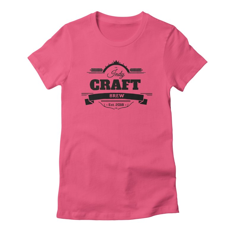Large Black ICB Logo Women's Fitted T-Shirt by Indy Craft Brew's Shop