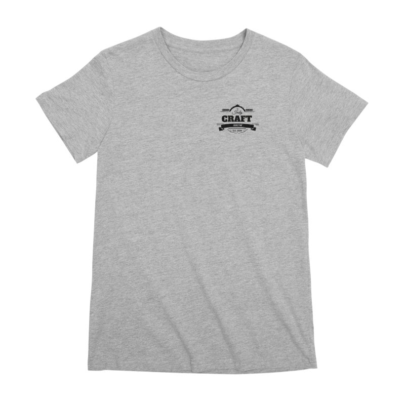 Left Chest Logo Women's Premium T-Shirt by Indy Craft Brew's Shop