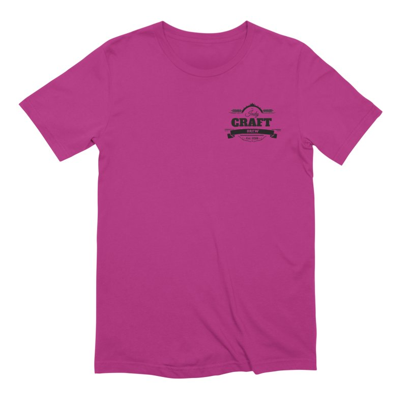Left Chest Logo Men's Extra Soft T-Shirt by Indy Craft Brew's Shop