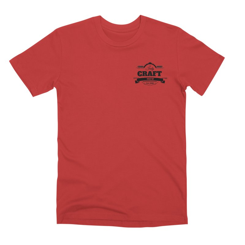 Left Chest Logo Men's Premium T-Shirt by Indy Craft Brew's Shop
