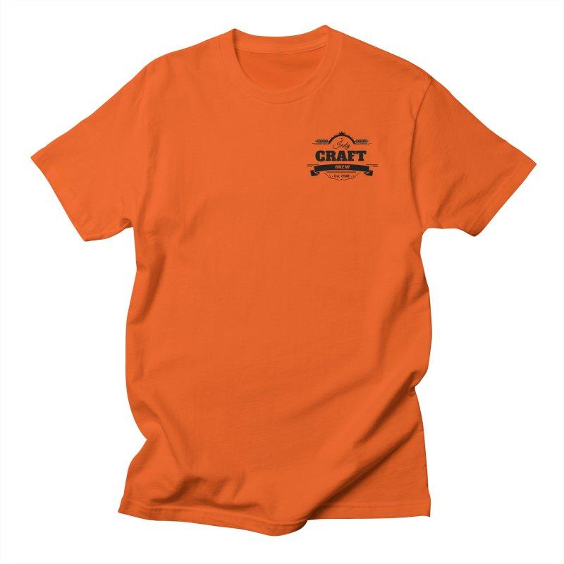 Left Chest Logo Men's T-Shirt by Indy Craft Brew's Shop