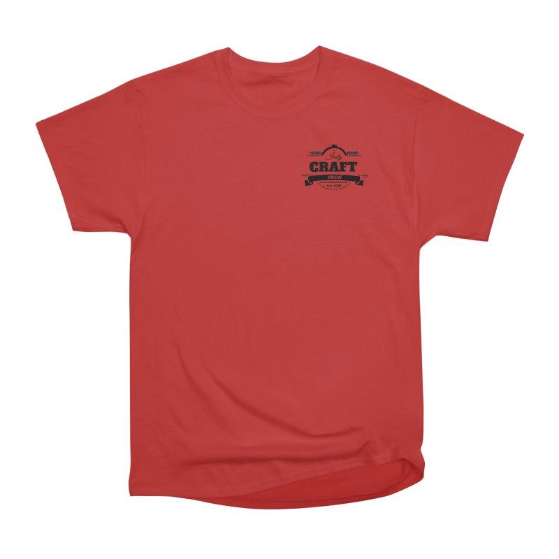Left Chest Logo Men's Heavyweight T-Shirt by Indy Craft Brew's Shop