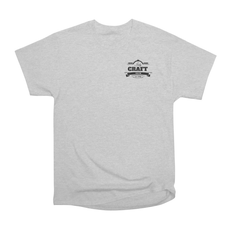 Left Chest Logo Men's Heavyweight T-Shirt by Indy Craft Brew's Shop