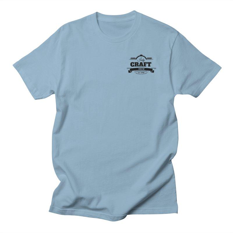 Left Chest Logo Men's Regular T-Shirt by Indy Craft Brew's Shop