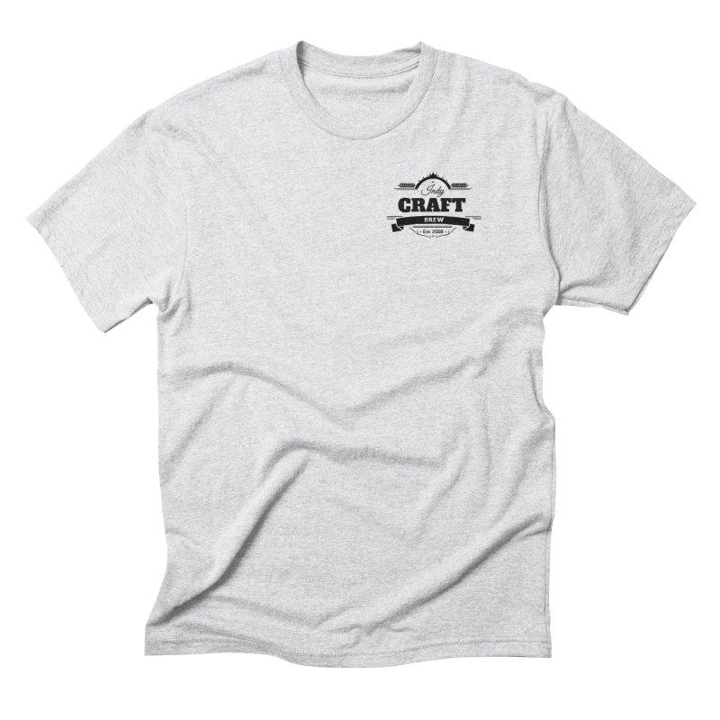 Left Chest Logo Men's Triblend T-Shirt by Indy Craft Brew's Shop
