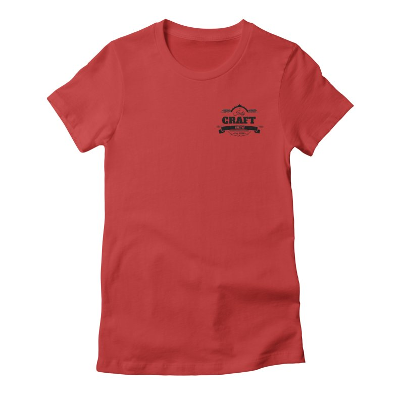 Left Chest Logo Women's Fitted T-Shirt by Indy Craft Brew's Shop