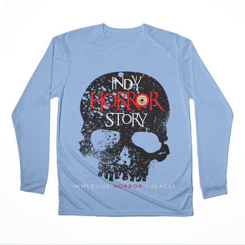 Indy Horror Story Skull Logo Men's Longsleeve T-Shirt by indyhorrorstory's Artist Shop