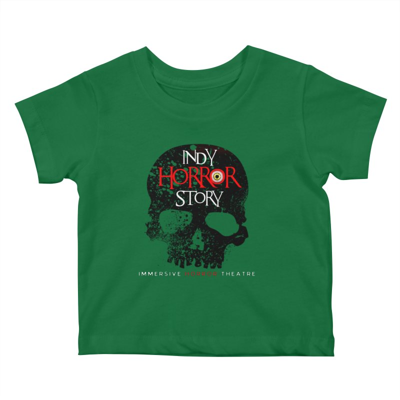 Indy Horror Story Skull Logo Kids Baby T-Shirt by indyhorrorstory's Artist Shop