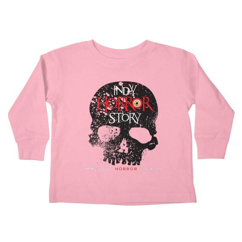 Indy Horror Story Skull Logo Kids Toddler Longsleeve T-Shirt by indyhorrorstory's Artist Shop