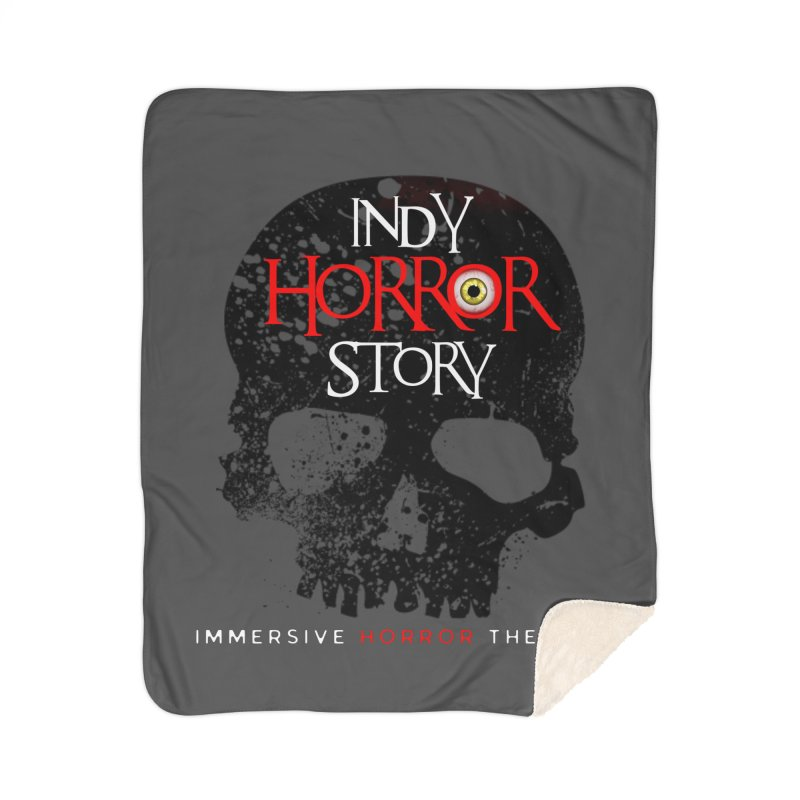 Indy Horror Story Skull Logo Home Blanket by indyhorrorstory's Artist Shop