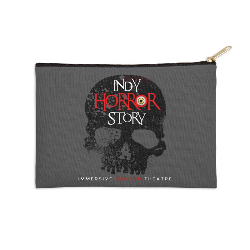 Indy Horror Story Skull Logo Accessories Zip Pouch by indyhorrorstory's Artist Shop