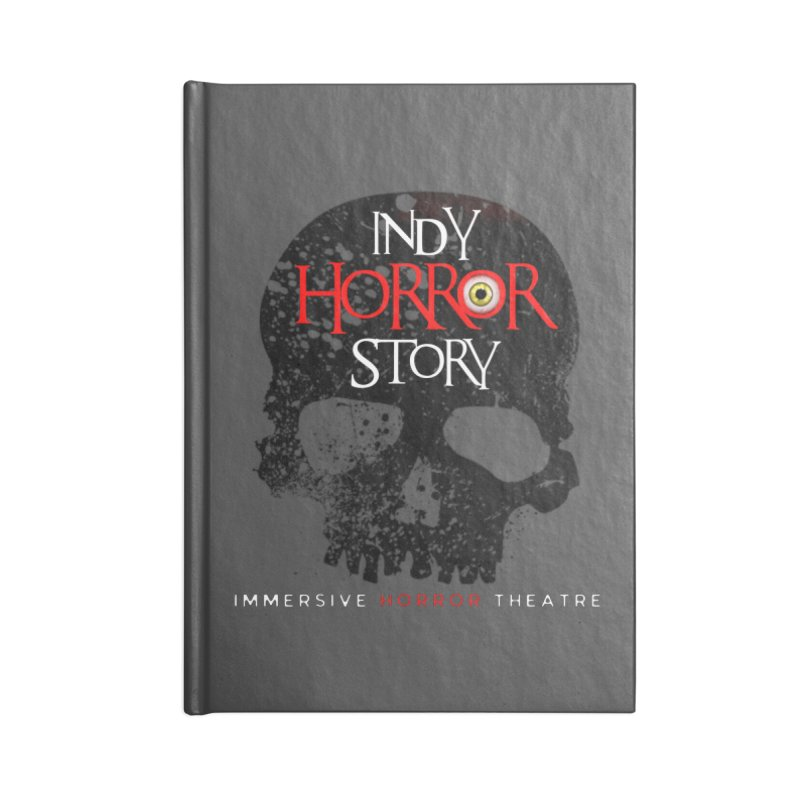 Indy Horror Story Skull Logo Accessories Notebook by indyhorrorstory's Artist Shop