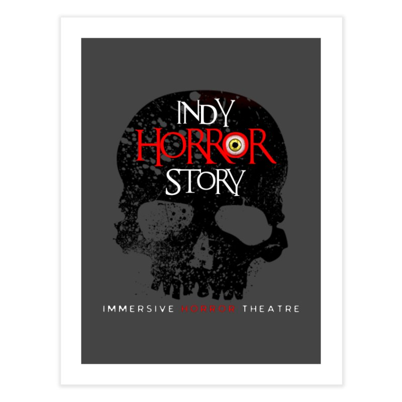 Indy Horror Story Skull Logo Home Fine Art Print by indyhorrorstory's Artist Shop