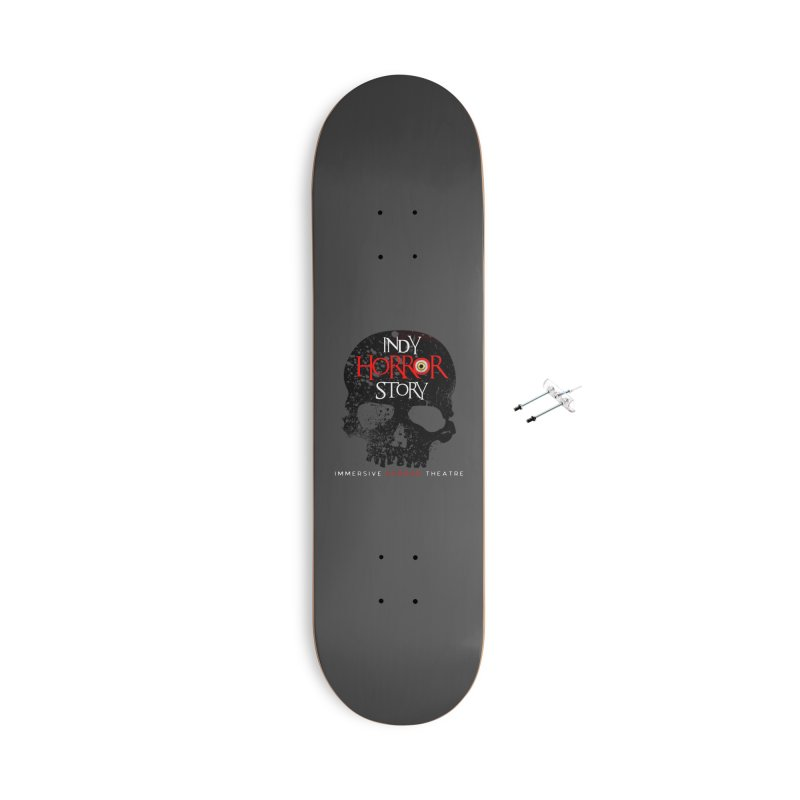 Indy Horror Story Skull Logo Accessories Skateboard by indyhorrorstory's Artist Shop
