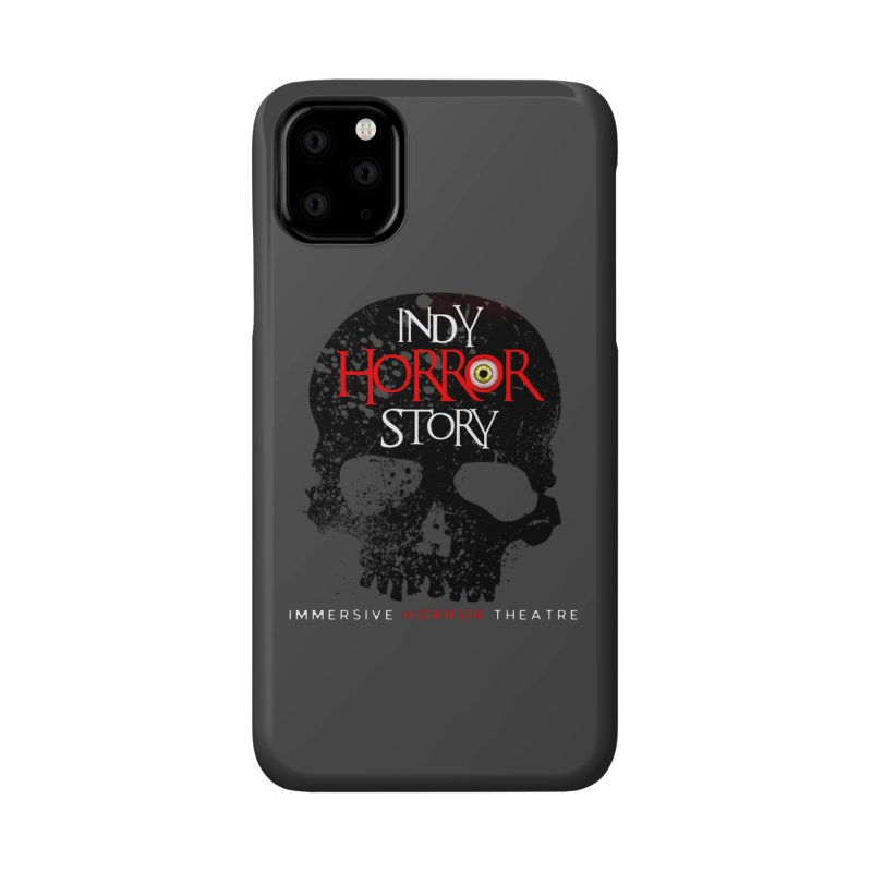 Indy Horror Story Skull Logo Accessories Phone Case by indyhorrorstory's Artist Shop