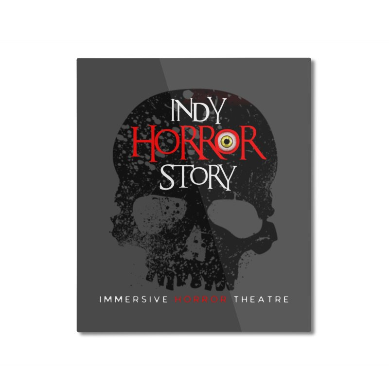 Indy Horror Story Skull Logo Home Mounted Aluminum Print by indyhorrorstory's Artist Shop