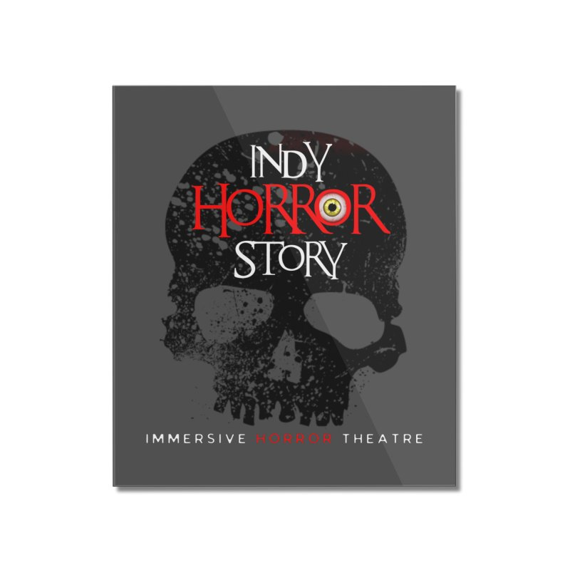 Indy Horror Story Skull Logo Home Mounted Acrylic Print by indyhorrorstory's Artist Shop