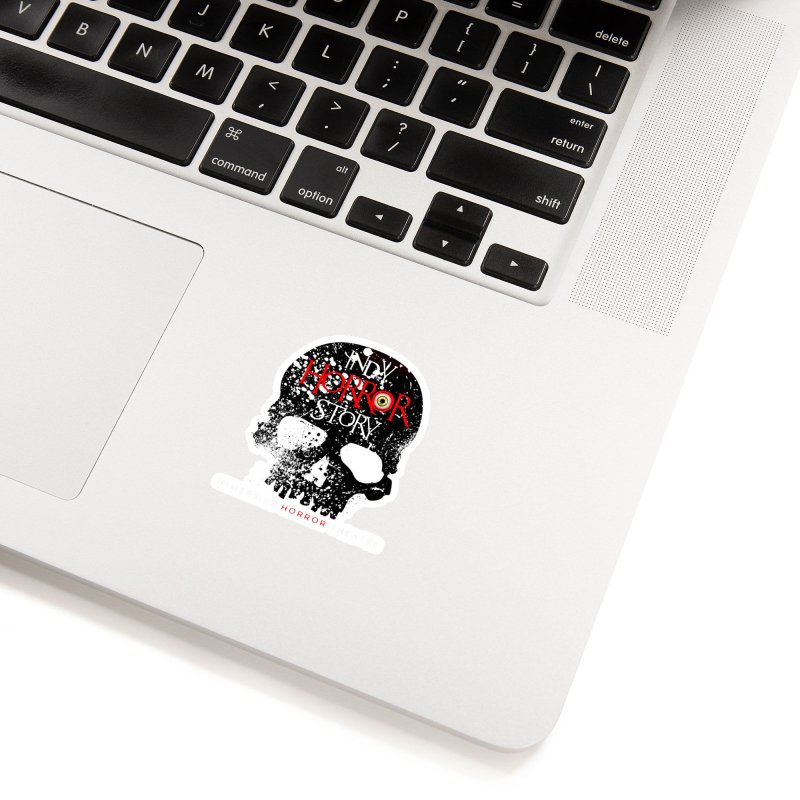 Indy Horror Story Skull Logo Accessories Sticker by indyhorrorstory's Artist Shop