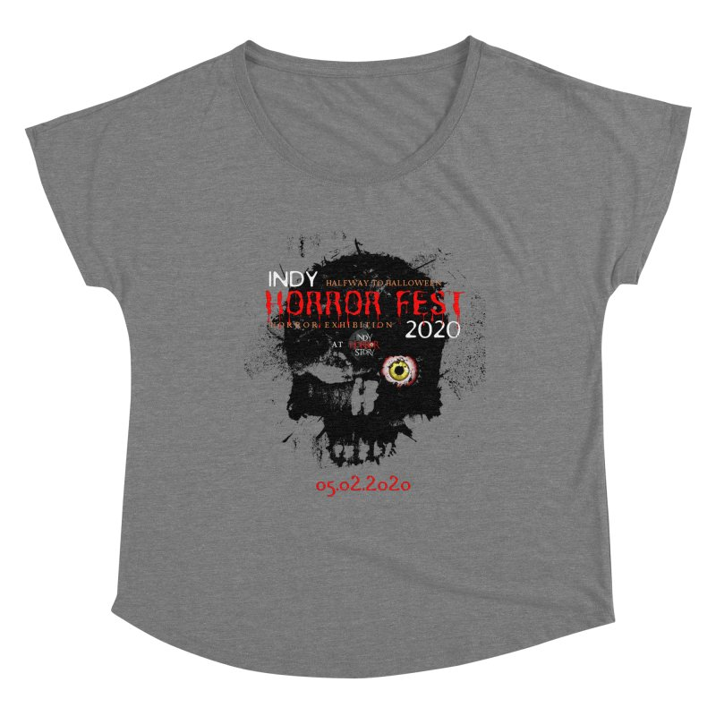 Indy Horror Fest 2020 Women's Scoop Neck by indyhorrorstory's Artist Shop
