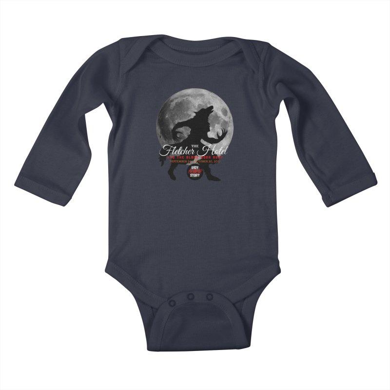 The Fletcher Hotel Kids Baby Longsleeve Bodysuit by indyhorrorstory's Artist Shop