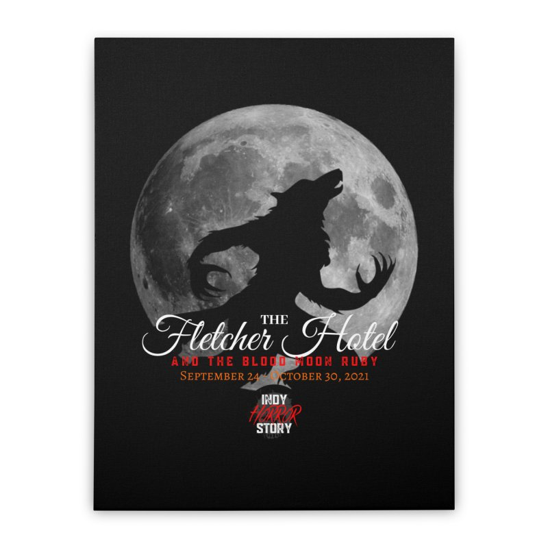 The Fletcher Hotel Home Stretched Canvas by indyhorrorstory's Artist Shop