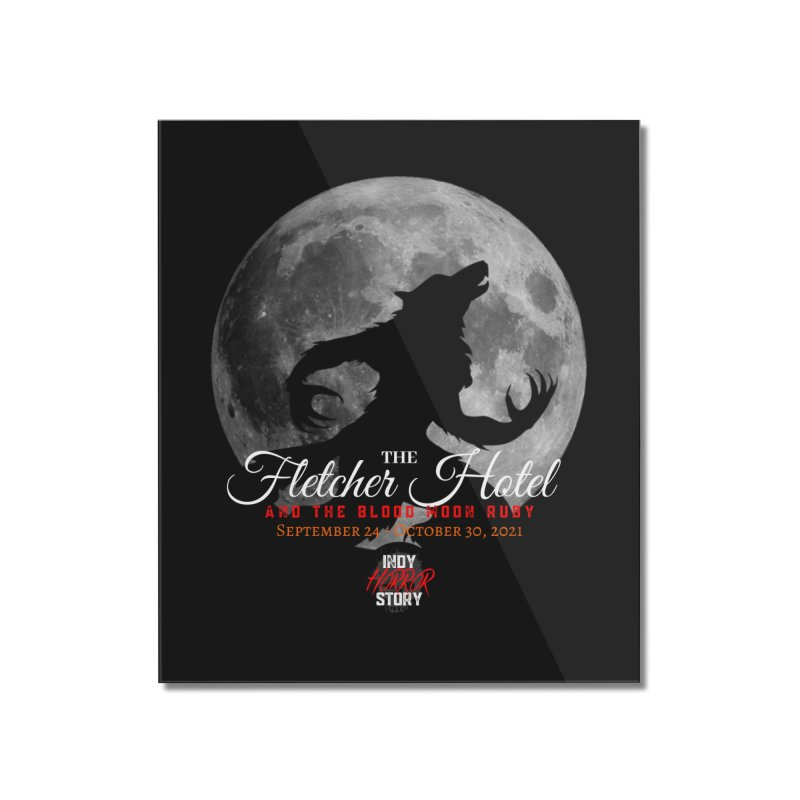 The Fletcher Hotel Home Mounted Acrylic Print by indyhorrorstory's Artist Shop