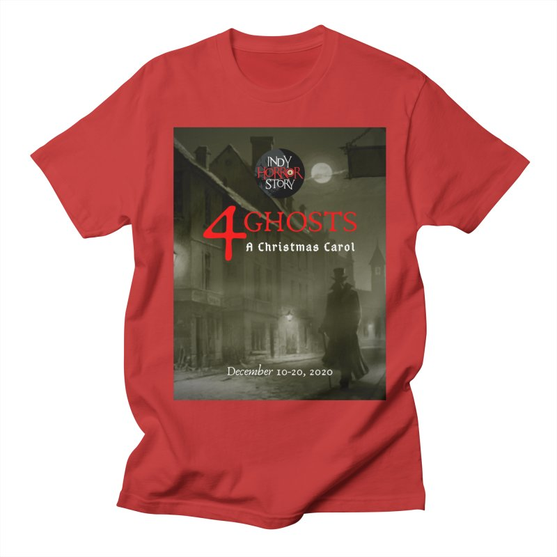 4 Ghosts - A Christmas Carol in Men's Regular T-Shirt Red by indyhorrorstory's Artist Shop