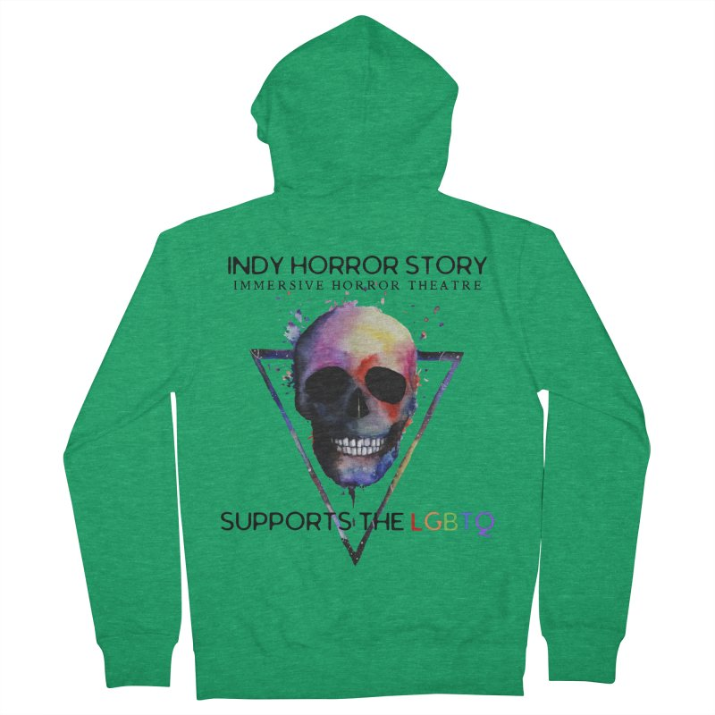 Indy Horror Story Pride Men's Zip-Up Hoody by indyhorrorstory's Artist Shop