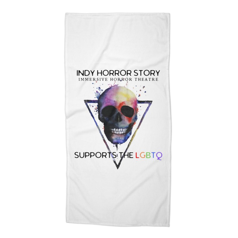 Indy Horror Story Pride Accessories Beach Towel by indyhorrorstory's Artist Shop