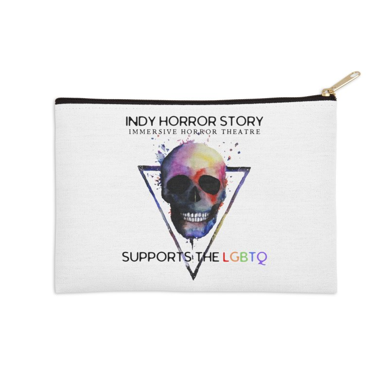 Indy Horror Story Pride Accessories Zip Pouch by indyhorrorstory's Artist Shop