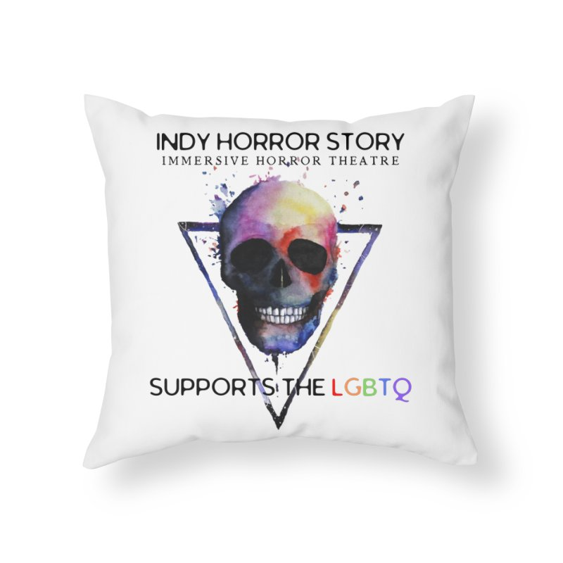 Indy Horror Story Pride Home Throw Pillow by indyhorrorstory's Artist Shop