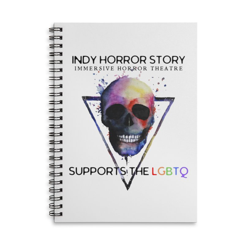 Indy Horror Story Pride Accessories Notebook by indyhorrorstory's Artist Shop