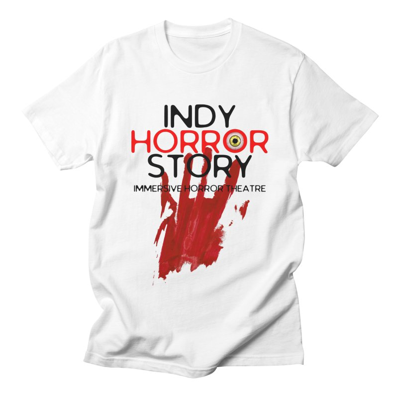 Indy Horror Story Bloody Hand in Men's Regular T-Shirt White by indyhorrorstory's Artist Shop