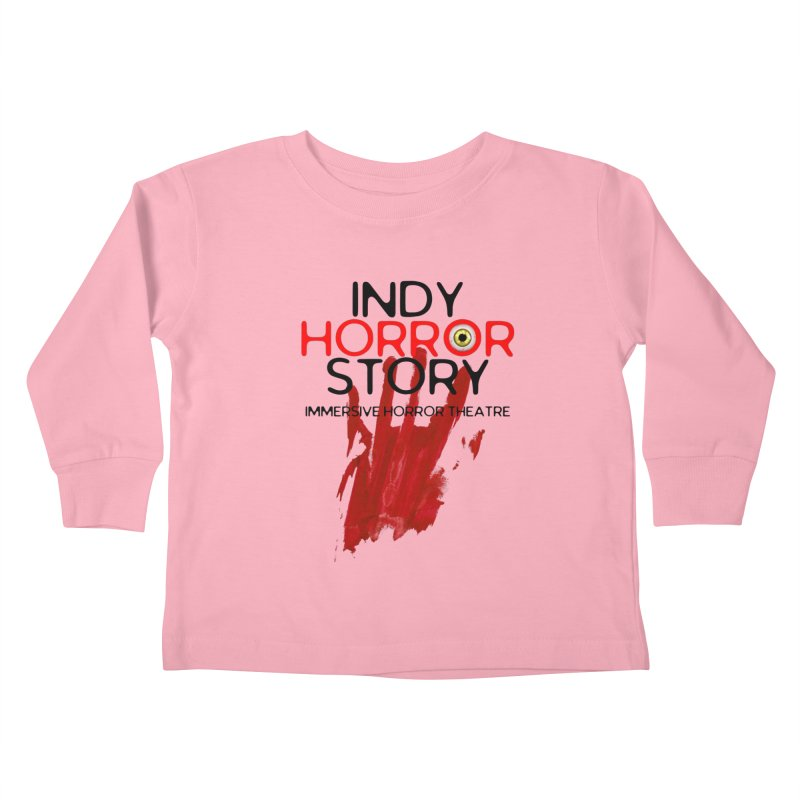 Indy Horror Story Bloody Hand Kids Toddler Longsleeve T-Shirt by indyhorrorstory's Artist Shop
