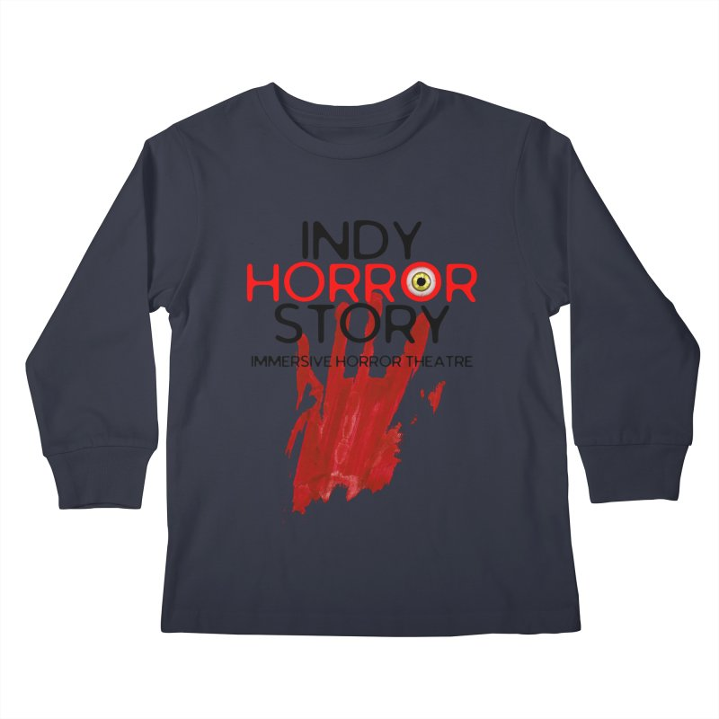Indy Horror Story Bloody Hand Kids Longsleeve T-Shirt by indyhorrorstory's Artist Shop