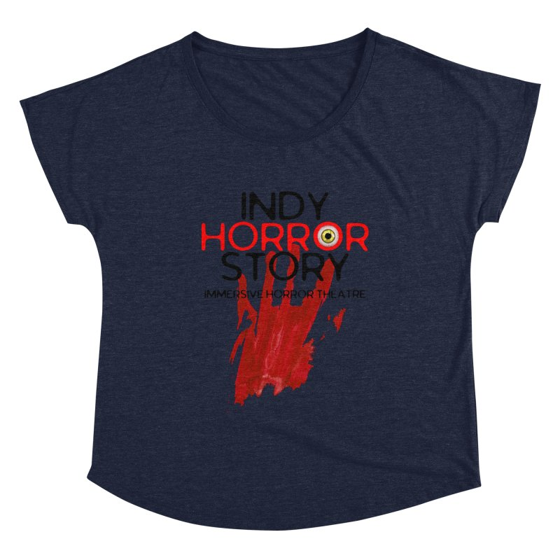 Indy Horror Story Bloody Hand Women's Scoop Neck by indyhorrorstory's Artist Shop
