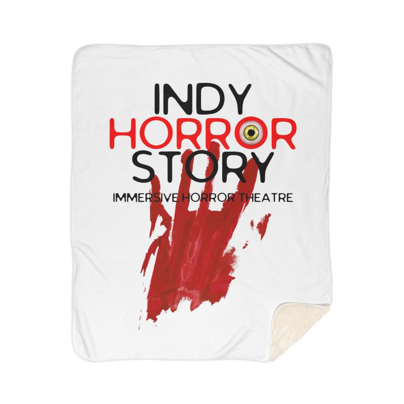 Indy Horror Story Bloody Hand Home Blanket by indyhorrorstory's Artist Shop