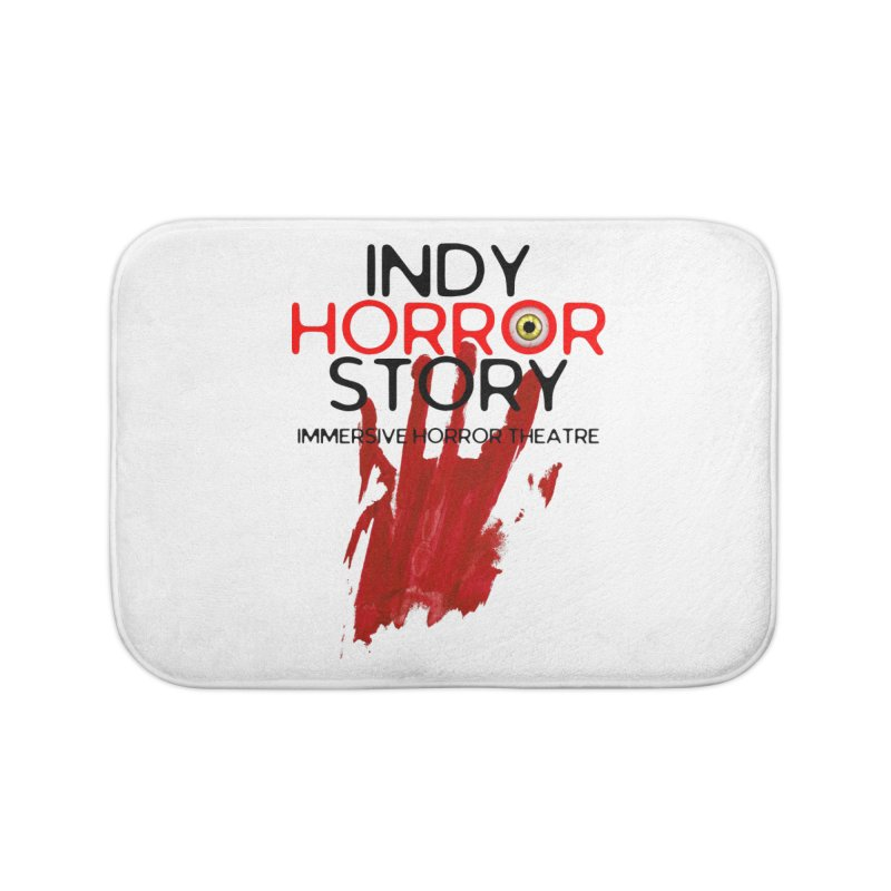 Indy Horror Story Bloody Hand Home Bath Mat by indyhorrorstory's Artist Shop