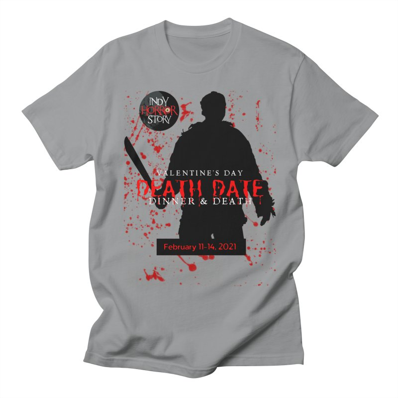 Valentine's Day DEATH DATE in Men's Regular T-Shirt Slate by indyhorrorstory's Artist Shop