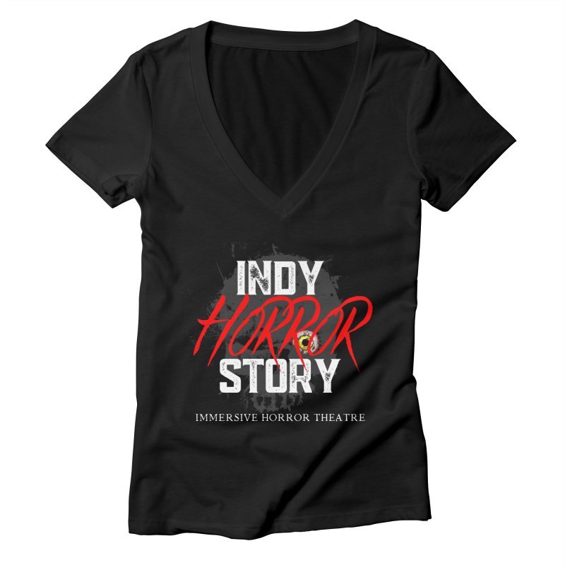 IHS Logo 2021 Women's V-Neck by indyhorrorstory's Artist Shop