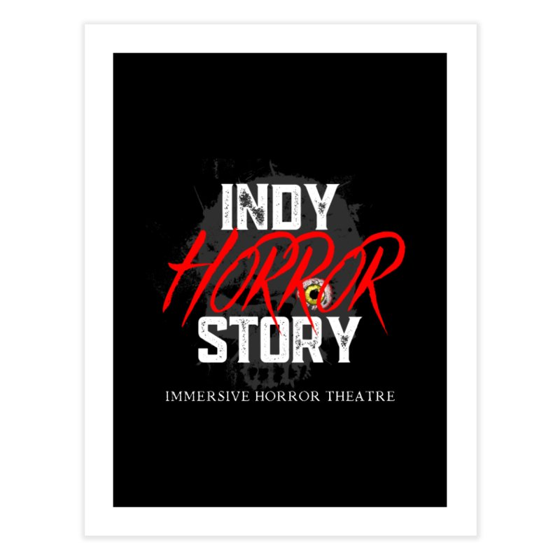 IHS Logo 2021 Home Fine Art Print by indyhorrorstory's Artist Shop