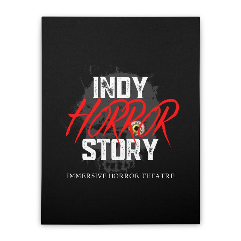 IHS Logo 2021 Home Stretched Canvas by indyhorrorstory's Artist Shop